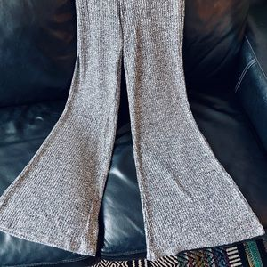 Knit bell bottom pant